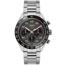 TAG Heuer Mens Carrera Porsche Calibre 02 Automatic Grey Bracelet Watch CBN2A1F.BA0643