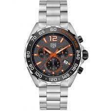 TAG Heuer Mens Formula 1 Orange 43mm Bracelet Watch CAZ101AH.BA0842