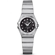 Omega Ladies Constellation Quartz Diamond Black Supernova Bracelet Watch 123.10.24.60.51.001