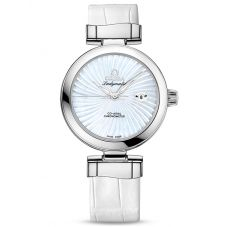 OMEGA Ladies De Ville Ladymatic Leather Strap Watch 425.33.34.20.05.001