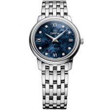 Omega Ladies De Ville Prestige Orbis Quartz Blue Bracelet Watch 424.10.27.60.53.003