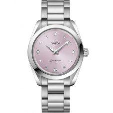 Omega Ladies Seamaster Aqua Terra Quartz Purple Bracelet Watch 220.10.28.60.60.001