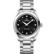 Omega Ladies Seamaster Aqua Terra Quartz Black Bracelet Watch 220.10.28.60.51.001