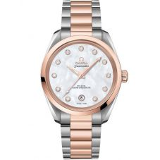 Omega Ladies Seamaster Aqua Terra Diamond Two-Tone Bracelet Watch 220.20.34.20.52.001
