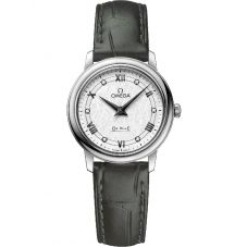 OMEGA Ladies De Ville Prestige Quartz Leather Strap Watch 424.13.27.60.52.002