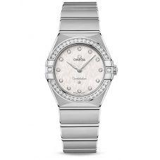 OMEGA Ladies Constellation Manhattan Diamond Set White Dial Bracelet Watch 131.15.28.60.52.001