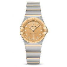 OMEGA Ladies Constellation Manhattan Champagne Diamond Set Dial Two-Tone Bracelet Watch 131.20.25.60.58.001