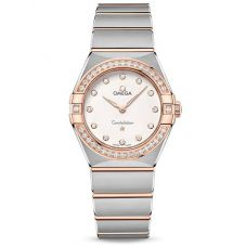 Omega Ladies Constellation Manhattan Diamond Set White Dial Two-Tone Bracelet Watch 131.25.28.60.52.001