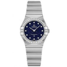 OMEGA Ladies Constellation Manhattan Blue Diamond Dial & Bezel Bracelet Watch 131.15.25.60.53.001