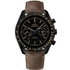 Omega Mens Speedmaster Moonwatch Brown Leather Strap Watch 311.92.44.51.01.006