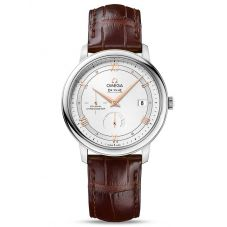 OMEGA Mens De Ville Prestige Brown Leather Strap Watch 424.13.40.21.02.002