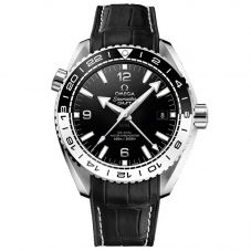 Omega Mens Seamaster Planet Ocean Black Leather Strap Watch 215.30.44.22.01.001