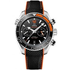 Omega Mens Seamaster Planet Ocean Two-Tone Chronograph Rubber Strap Watch 215.32.46.51.01.001