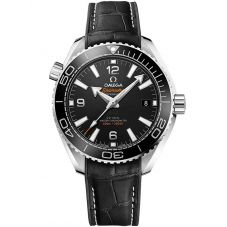 Omega Mens Seamaster Planet Ocean Black Leather Strap Watch 215.33.40.20.01.001