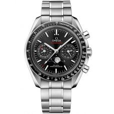 Omega Mens Speedmaster Moonwatch Black Chronograph Bracelet Watch 304.30.44.52.01.001