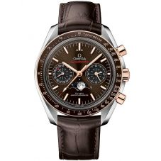 Omega Mens Speedmaster Moonwatch Leather Strap Watch 304.23.44.52.13.001