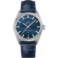 OMEGA Mens Constellation Globemaster Leather Strap Watch 130.33.39.21.03.001