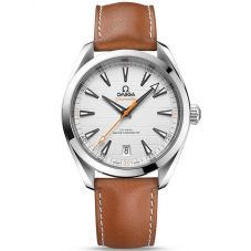 OMEGA Mens Seamaster Aqua Terra Leather Leather Strap Watch 220.12.41.21.02.001