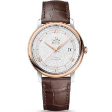 Omega Mens De Ville Prestige Leather Strap Watch 424.23.40.20.02.002