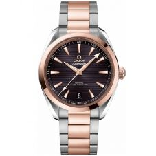 OMEGA Mens Seamaster Aqua Terra Two-Tone Bracelet Watch 220.20.41.21.06.001