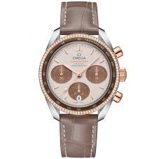 Omega Mens Speedmaster Leather Strap Watch 324.28.38.50.02.002