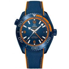 OMEGA Mens Seamaster Planet Ocean Rubber Strap Watch 215.92.46.22.03.001