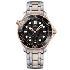OMEGA Mens Seamaster Diver 300M Rose Gold and Steel Bracelet Watch 210.20.42.20.01.001