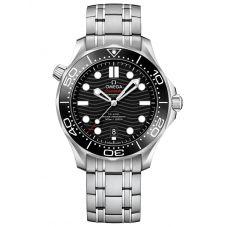 OMEGA Mens Seamaster Diver 300M Black Dial Bracelet Watch 210.30.42.20.01.001