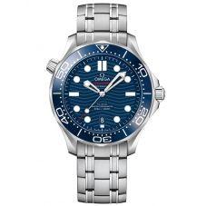 OMEGA Mens Seamaster Diver 300M Blue Dial Bracelet Watch 210.30.42.20.03.001