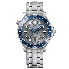 OMEGA Mens Seamaster Diver 300M Grey Dial Bracelet Watch 210.30.42.20.06.001