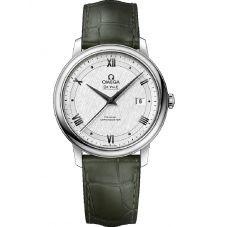 Omega Mens De Ville Prestige Co-Axial Leather Strap Watch 424.13.40.20.02.006