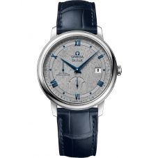 Omega Mens De Ville Prestige Co-Axial Power Reserve Leather Strap Watch 424.13.40.21.06.002