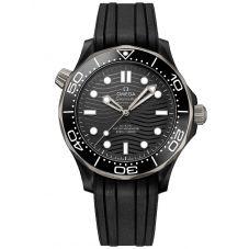 OMEGA Mens Seamaster Diver 300M Black Rubber Strap Watch 210.92.44.20.01.001