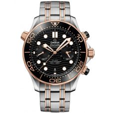 OMEGA Mens Seamaster Co-Axial Master Chronometer Chronograph Bracelet Watch 210.20.44.51.01.001