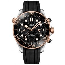 OMEGA Mens Seamsater Co-Axial Master Chronometer Chronograph Rubber Strap Watch 210.22.44.51.01.001