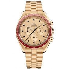 Omega Mens Speedmaster Limited Edition 18ct Apollo 11 50th Anniversary Chronograph Bracelet Watch 310.60.42.50.99.001