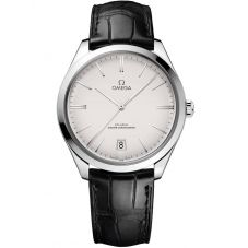 OMEGA De Ville Tresor Co-Axial Master Chronometer 40mm Black Leather Strap Watch 435.13.40.21.02.001