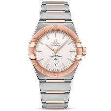 Omega Mens Constellation Co-Axial Master Chronometer 39mm Two Tone Bracelet Watch 131.20.39.20.02.001