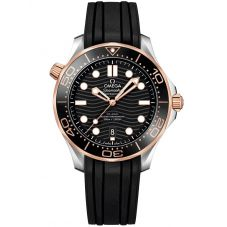OMEGA Mens Seamaster Diver 300m Co-Axial Master Chronometer 42mm Black Rubber Strap Watch 210.22.42.20.01.002