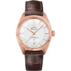 OMEGA Mens Constellation Globemaster 18ct Gold Leather Strap Watch 130.53.39.21.02.001