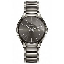 Rado Mens True Automatic Grey Ceramic Bracelet Watch R27057102