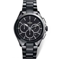 Rado Mens HyperChrome Automatic Chronograph Black Ceramic Bracelet Watch R32275152 XXL
