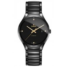 Rado Mens True Diamonds Automatic Black Ceramic Bracelet Watch R27056712
