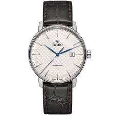 Rado Mens Coupole Classic Automatic Black Leather Strap Watch R22876015 XL