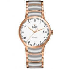 Rado Mens Centrix Automatic Grey and Rose Ceramic Bracelet Watch R30036013 L