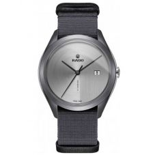 Rado Mens HyperChrome Automatic Ultra-Light Grey Fabric Strap Watch R32069115 XL