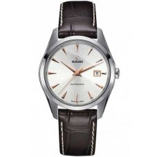 Rado Mens HyperChrome Automatic Brown Leather Strap Watch R32115115 L