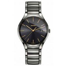 Rado Mens True Quartz Grey Ceramic Bracelet Watch R27239152