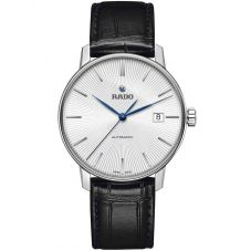 Rado Mens Coupole Classic Automatic Black Leather Strap Watch R22860045
