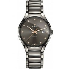 Rado Mens True Diamonds Automatic Grey Ceramic Bracelet Watch R27057732